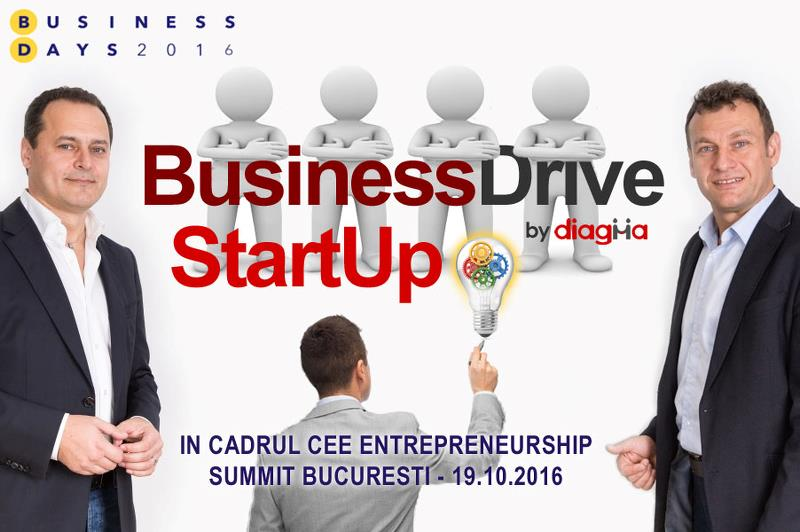BUSINESS DRIVE STARTUP IN CADRUL CEE ENTREPRENEURSHIP SUMMIT 2016 - BUCURESTI - 19.10.2016