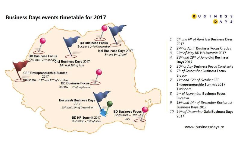 Business Days events timetable for 2017