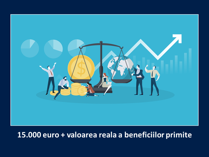 9. Valoaea reala a beneficiilor primite in program depaseste 15.000 de euro
