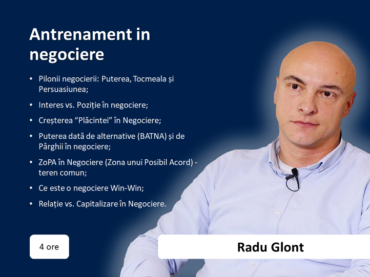 Radu Glont - data, ora, topic principal
