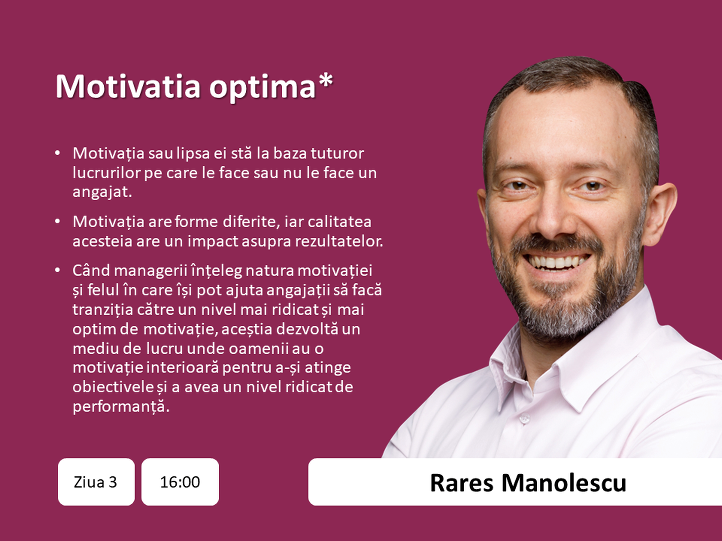 Rares Manolescu - data, ora, topic principal