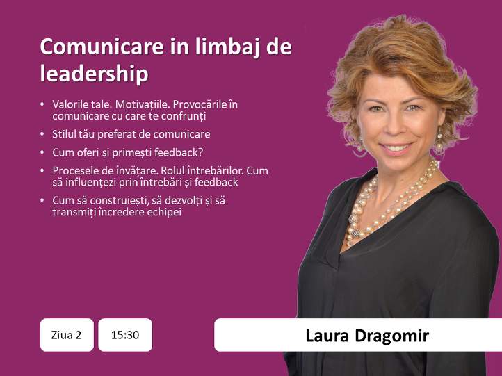 3. Laura Dragomir - expert in comunicare