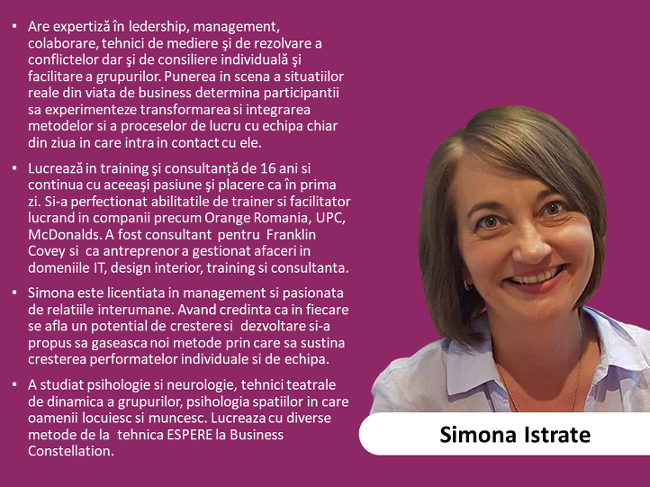 3. Simona Istrate - expert in comunicare si leadership